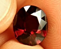 5.14 Carat VVS1 Fiery Red Rhodolite Garnet - Superb