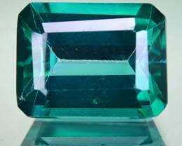4.26 Cts Rare Green Topaz Emerald Cut Brazil Gem