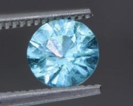 0.96ct Madagascar Blue Apatite Round Cut - NR Auctions