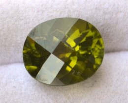 4.21 Carat Oval Checkerboard Cut Fine Peridot