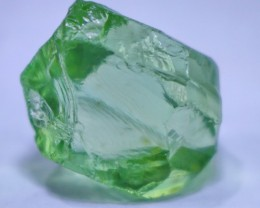 30.40 CT Natural - Heated Green Amethyst Prasiolite  Rough