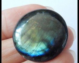 30Ct Natural Labradorite Gemstone Cabochon Round