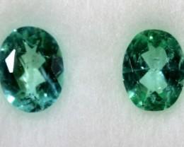 Paraiba Pair of Stones 0.28 CTS ANGC - 608