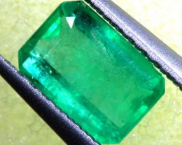FREE SHIPPING ——-0.86 CTS EMERALD FACETED STONE ANGC-627
