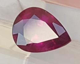 1.36cts Grape Purple Garnet of Mozambique, Bright, Vivid, Untreated, VVS1