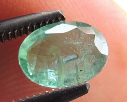 0.80ct EMERALD OVAL FACETED GEMSTONE FROM ZAMBIA