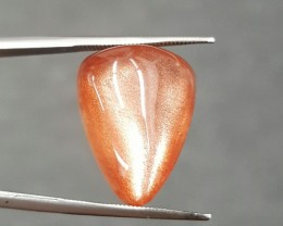 15.38 CT SUNSTONE CABOCHON - MASTER CUT!  BEAUTIFUL SCHILLER!