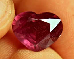 8.14 Carat Purplish Red Ruby Heart - Gorgeous