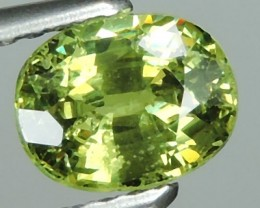 1.05 CTS-OVAL VIVIDLY RARE-GREEN-COLOR DEMANTOID GARNET FROM RUSSIA