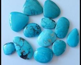12 PCS Turquoise Gemstone Cabochon Lot,26x25x5 MM