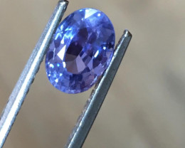 1.67 Carats   Natural Unheated Violet Sapphire   Loose Gemstone   Sri Lanka