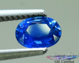 GiL Certified 0.90 ct Sapphire AAA Grade Ceylon dr