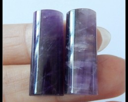 35.5Ct Natural Amethyst Gemstone Cabochon Pair (C0076)