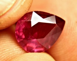 4.9 Ct. Fiery Red Ruby Pear - Gorgeous