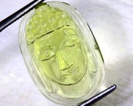 10.1 CTS LEMON QUARTZ BUDDHA HEAD  CARVING  LT- 721