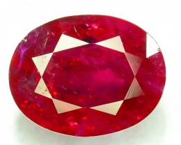 1.270 ct 100% Natural Ruby ~ Jagdalek Afghanistan
