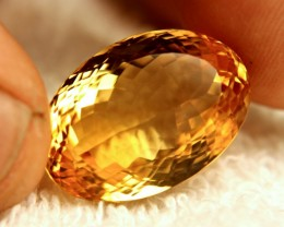 34.2 Carat Golden Brazilian VVS Citrine
