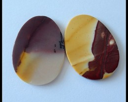 2PCS Natural Mookaite Jasper ,25Ct