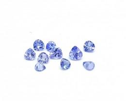 10pcs 1.00 ct Heart calibrated tanzanite gemstones for sale