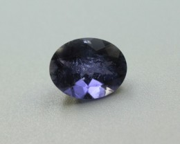IOLITE OVAL SHAPED GEMSTONE FACETED