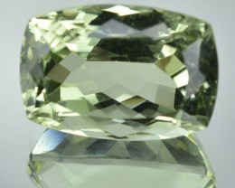 16.22 Cts Natural Green Amethyst/Prasiolite  Cushion Cut Brazil Gem