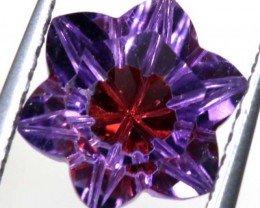 1.5 CTS AMETHYST FLOWER CARVINGS STONE PG- 1915