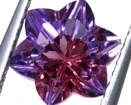 1.35 CTS AMETHYST FLOWER CARVINGS STONE PG- 1918