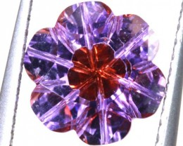 1.7 CTS AMETHYST FLOWER CARVINGS STONE PG- 1920