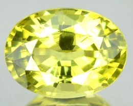 1.38 Cts Natural Yellowish Green Chrysobeyl Oval Cut Srilanka Gem