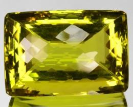 133.93 Cts Natural Lemon Yellow Prasiolite Quartz Fancy Cut Brazil Gem