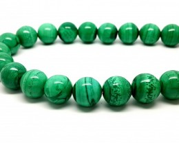 8MM MALACHITE BEADS STRAND TOP QUALITY GREEN STONE
