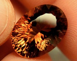 13.21 Carat VVS South American Golden Brown Topaz - Gorgeous