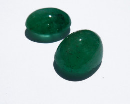 17.5 ct Colombian Emerald Cabochon Pair