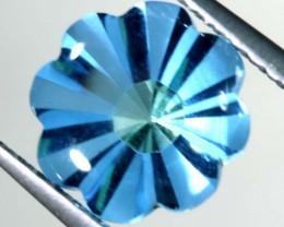 1.85 CTS BLUE TOPAZ FLOWER CARVING PG-1955