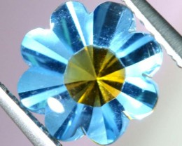 1.95 CTS BLUE TOPAZ FLOWER CARVING PG-1956