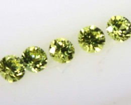 0.38 CTS 5PC  LEMON SAPPHIRE FACED STONE   PG-1962