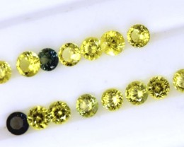 2.25 CTS  15 PC SAPPHIRE FACETED GEMSTONE TBM-922