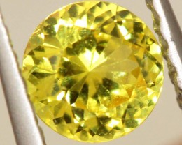 0.45 CTS  UNHEATED YELLOW  SAPPHIRE FACETED GEMSTONE TBM-927