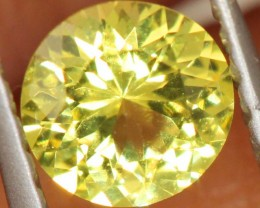 0.4 CTS  UNHEATED YELLOW SAPPHIRE FACETED GEMSTONE TBM- 928