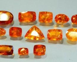 38.675 ct Natural Orange Cinnamon Hessonite Garnet Lot