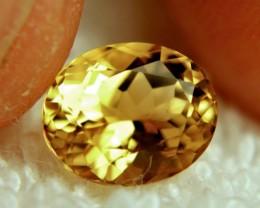 CERTIFIED - 2.98 Carat Brazil VVS1 Golden Beryl - Gorgeous