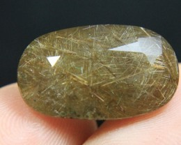 Wow Very Beautiful Golden Rutiles in Quartz  for Pendant Or Ring Collector'