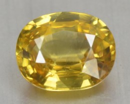2.68 Cts Natural Yellow Zircon Oval Cut Cambodia Gem