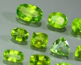 33.015 Ct Untreated Green Peridot Lot~20Pcs
