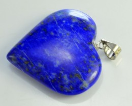 30.10 CT NATURAL HEART SHAPE LAPIS LAZULI PENDANT