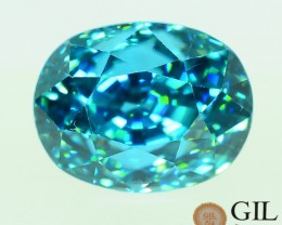 GiL Certified Zircon 7.63 ct Top Luster from Cambodia S.1