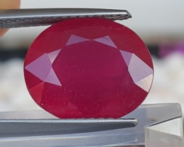 6.50cts Natural Ruby from Madagascar,  Bright Red