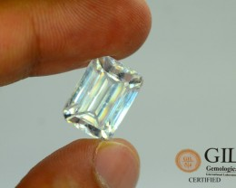 GiL Cert Zircon 16.16 ct White Colour Untreated Cambodia Awesome Luster