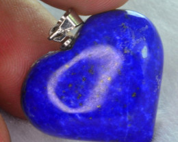 31.95 CT NATURAL HEART SHAPE LAPIS LAZULI PENDANT