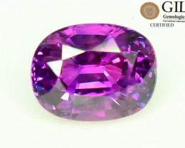 GiL Cert Bi Color Sapphire 1.17 ct Unheated Very Rare Colour Sri Lanka S.1